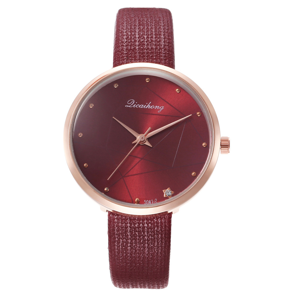 DUOBLA Brand Women Watches Quartz Watch Luxury Fashion Wristwatches Waterproof Leather Strap Mirror Surface Discoloration