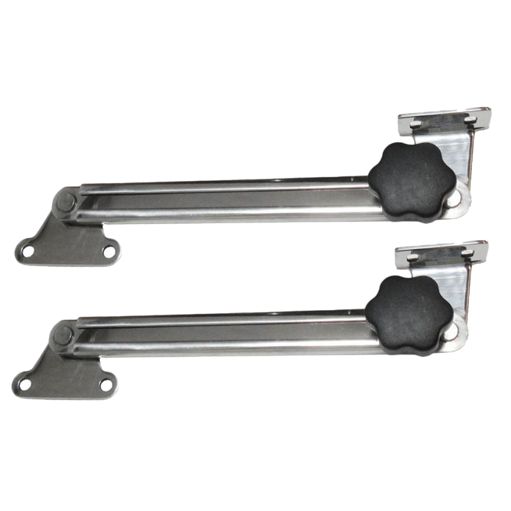 2x 316 Stainless Steel Telescoping Hatch Adjuster For Marine Boat Cabin Doors (8-14 Inch)
