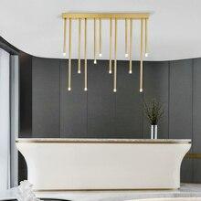 Lampe suspendue en fer, disponible en noir ou en or, design LED simpliste, design moderne, luminaire décoratif dintérieur, idéal pour une salle à manger ou un hôtel, 16/24W
