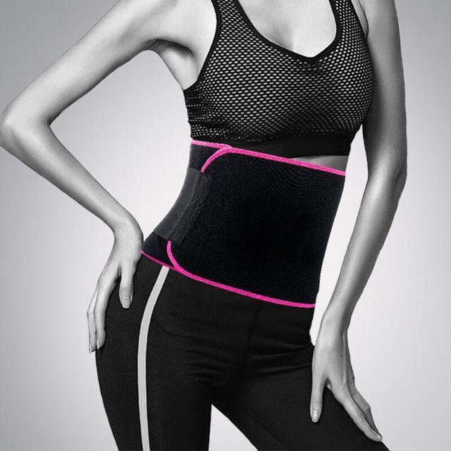 Adjustable Fitness Belt Men Women Sport Shapewear Sweat Belt Waist Cincher Trainer Trimmer Gym BodyBuilding Shaper 20*110CM 2