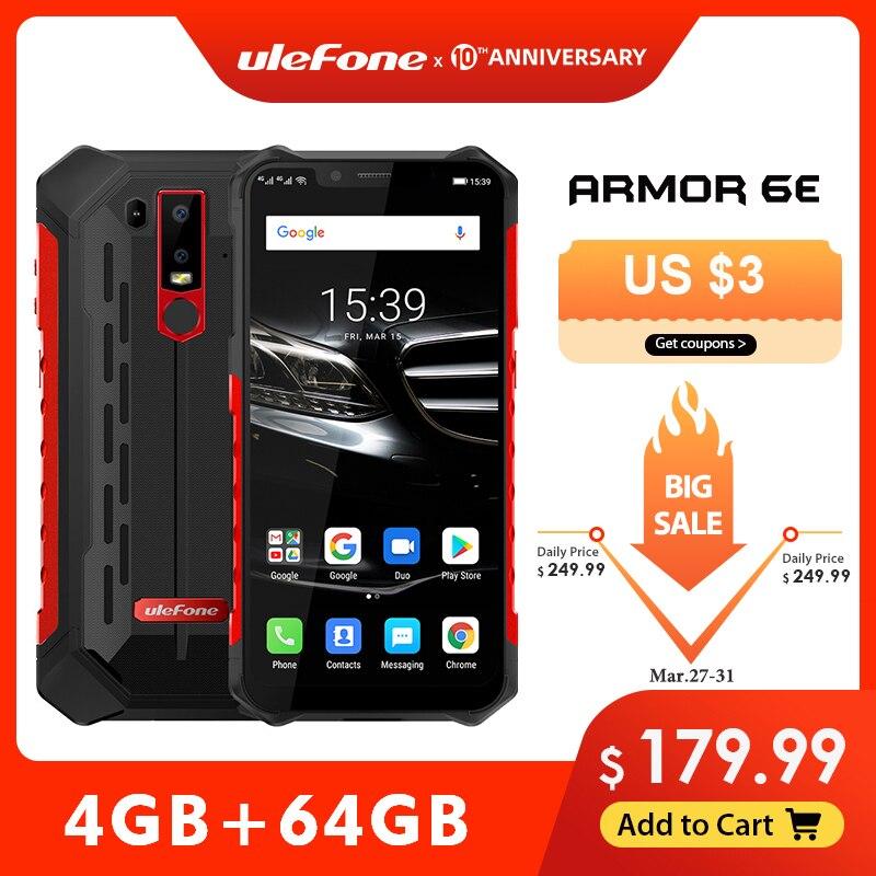 Ulefone armadura 6e impermeável ip68 nfc robusto telefone móvel 2.4g/5g wifi helio p70 android 9.0 4 gb + 64 gb de carga sem fio smartphone