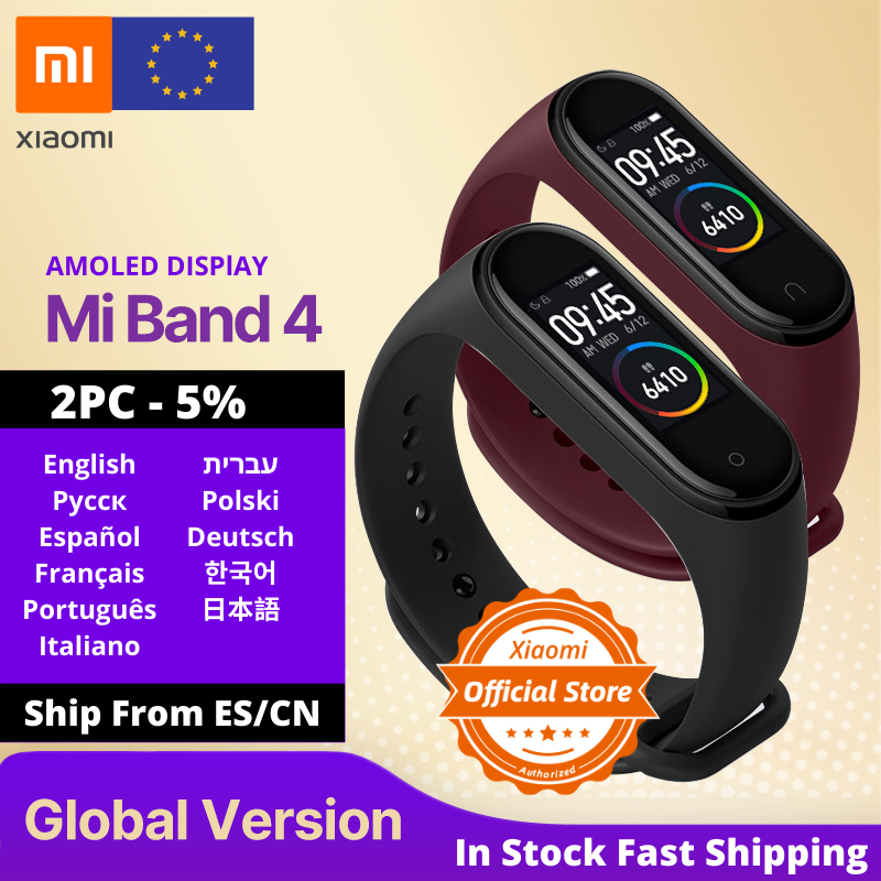 Global Version Xiaomi Mi Band 4 Smart Uhr Herz Rate Fitness Aktivität Tracker Armband Bunte Display Smart Band 135 mAh