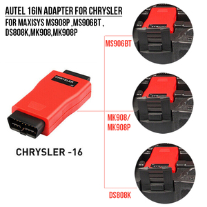 Image 2 - Autel 16Pin Adapter for Chrysler 16 Pin for Diagnostic Tool Maxisys pro MS908p ,MS906BT ,DS808K,MK908 Connector for MK908P