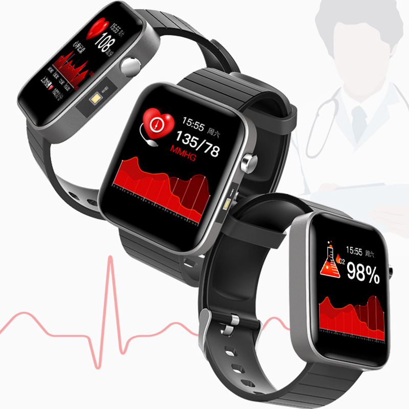 2020 NEW T68 Fashion Watch Men Body Temperature Measure Heart Rate Blood Pressure Oxygen Bracelet Call Reminder Watches For Men 3