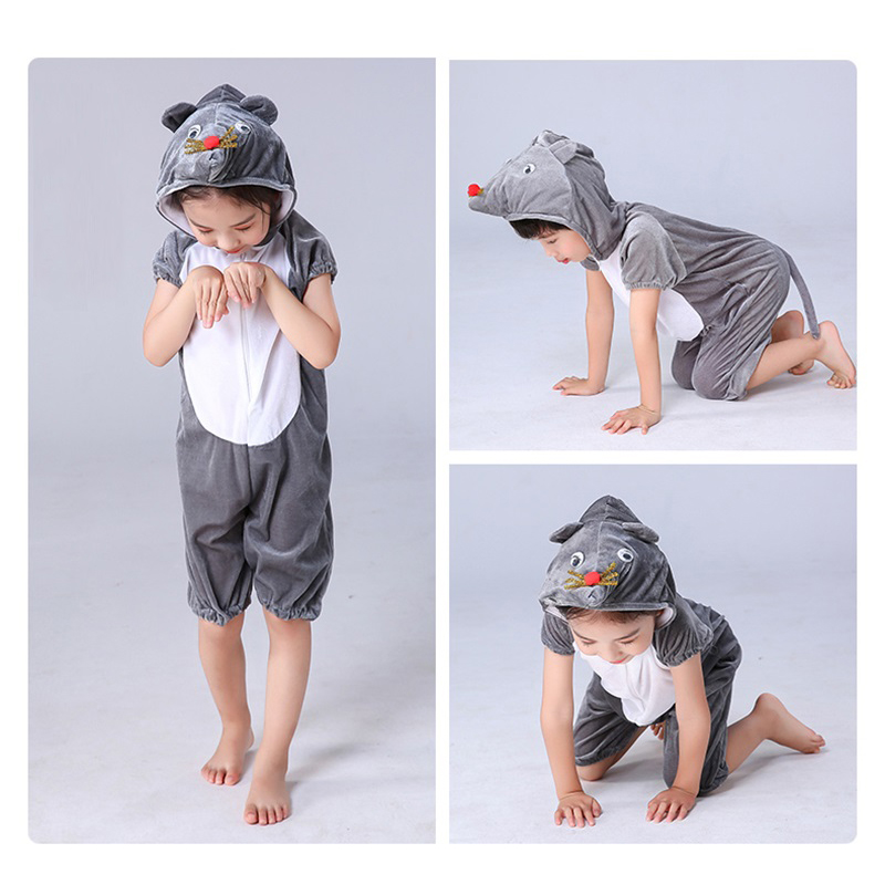Mouse Children Animals Cosplay Costumes Kids Kindergarten Role Play Jumpsuit Halloween Christmas Party School Performance