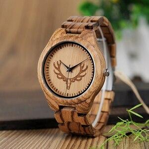 Image 2 - קידום מכירה BOBOBIRD שעון עץ גברים נשים קוורץ שעוני יד חג המולד מתנה הטובה ביותר מתנה בתיבה montre homme