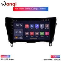 wan qi 2G RAM 32G ROM 10.1 inch Android 8.1 car dvd gps navigation For NISSAN x trail qashqai 2012 2018 multimedia radio system