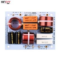 HIFIDIY L-380C en vivo three vías three Unidad de altavoz (tweeter + Medio + bajo) HiFi altavoces para el hogar divisor de frecuencia de audio filtros cruzados