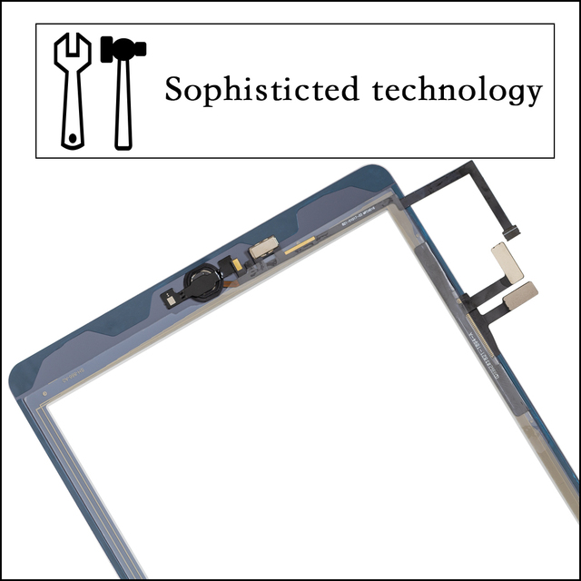 2017 A1822 A1823 Touch Screen For iPad 5th Generation 5 Digitizer  Front Glass With home button +cable+Tools+Tempered Glasss 5