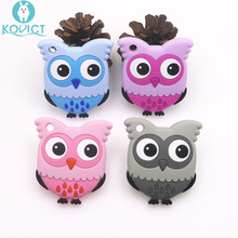 Kovict BPA Free 5/10 pcs owl Silicone Baby Teether rodent Baby Teething Toys Chewable Animal Shape Baby Products Nursing Gift