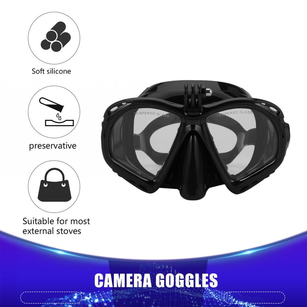 Hot Dropship Cámara subacuática profesional máscara de buceo Snorkel gafas de natación para cámara deportiva Xiaomi SJCAM