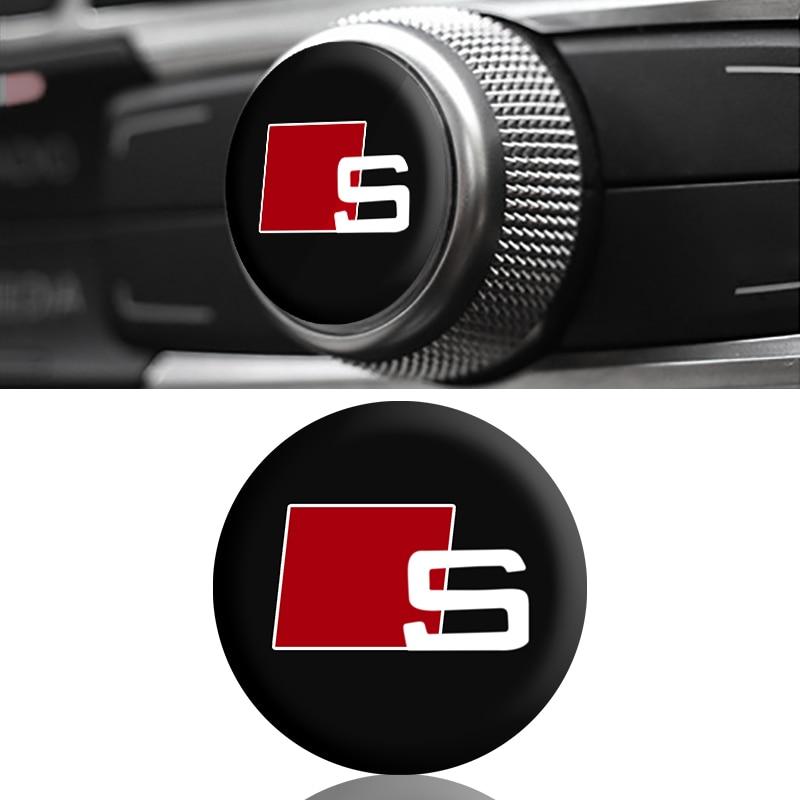 8pcs Audi Decal Sticker Wheels Rims Logo Emblem RED A3 A4 A5 A6 A7 A8 S4 S5 S6