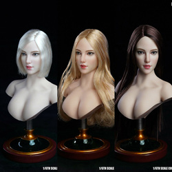 W magazynie SUPER DUCK 1/6 skala SDH018 blady kobieta głowa Sculpt rzeźba dla 12 ''PHicens figurka
