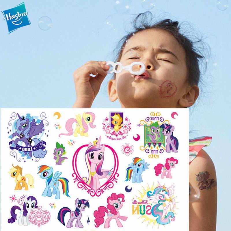 Hasbro My Little Pony Cartoon Tijdelijke Tattoo Sticker Voor Gril Kinderen Cartoon Speelgoed Tatoo Sticker Waterdicht Party Gril Gift