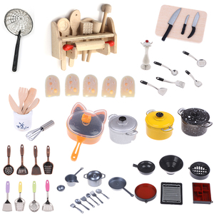 1set or 1pc Dollhouse Miniature Kitchen Utensils Cooking Ware Pot Boiler Pan Coffee Tea Cups Chair Ceramic Pot Kitchen Play Toys