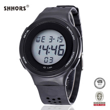 2020 Shhors Men Fashion Military Sports Watches Digital Watches LED Electronic Наручные часы Силикон Часы Reloj Hombre herrenuhr