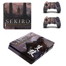 Sekiro Shadows Die Twice Full Cover Faceplates PS4 Slim Skin Sticker Decal Vinyl for Sony Playstation 4 Console & Controller