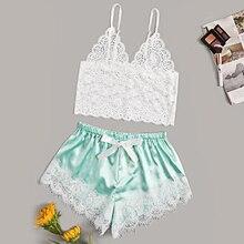 Sexy lingerie pajamas for women Lace Pajamas Set