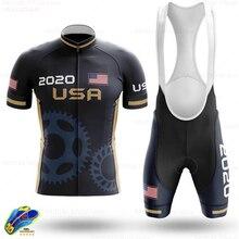 High quality cycling Sweatshirt 2020 American cycling apparel Custom New Summer Short Sleeve cycling suit MTB cycling apparel фото