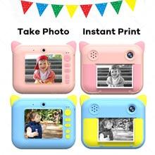 Photo imprimante thermique Mini caméra pour enfants vidéo 58mm thermique impression instantanée enfants caméra imprimante anniversaire cadeaux de noël