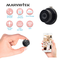 Mini caméra de Surveillance IP WiFi HD 1080P, dispositif de sécurité domestique sans fil, avec Vision nocturne, détection de mouvement, babyphone, protocole P2P