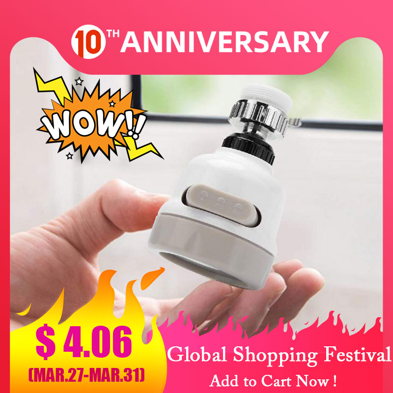 ZhangJi 3 Modes Faucet Aerator Water Saving High Pressure Filter Sprayer Nozzle 360 Degree Rotate Diffuser Aerator Flexible
