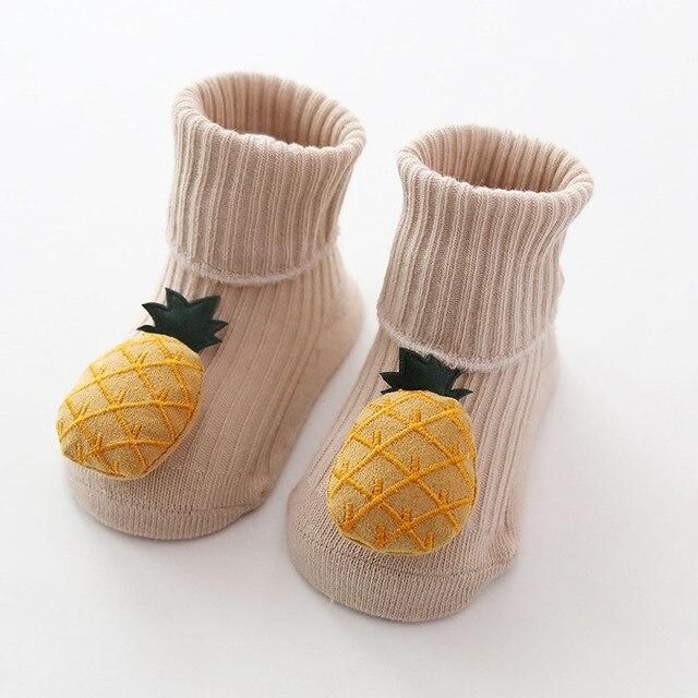 Cotton Baby Socks Cartoon Fruit Newborn Socks Anti Slip Floor Socks Autumn Winter Socks for Children Baby Boy Girl Infant Socks 4