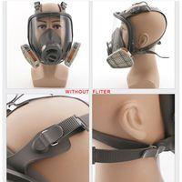 Máscara facial completa respirador conjunto facepiece defesa pintura em spray grande proteção máscara para química pulverização j6pb Respiradores de fogo     -