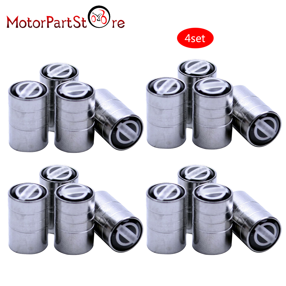 FLYPIG New 4pcs/set Silver Chrome Car Wheel Tire Air Valve Caps Stem Dust Cover Car Tire Valve Air Caps For Nissan Free Shipping