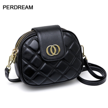 Genuine leather female bag simple fashion multi-layer first layer cowhide ladies bag one shoulder messenger small square bag