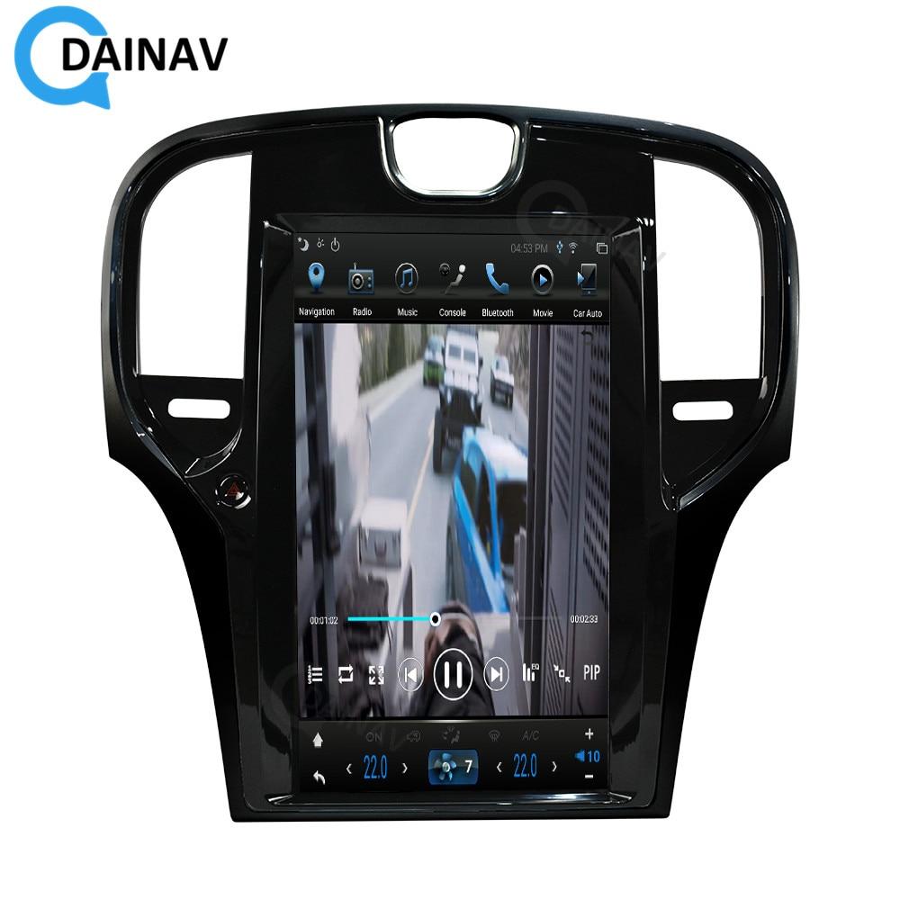 Radio Multimedia con GPS para coche, Radio con reproductor DVD, Android, pantalla Vertical de 13,3 pulgadas, navegador, para Chrysler 300C, 2003-2012, estilo Tesla