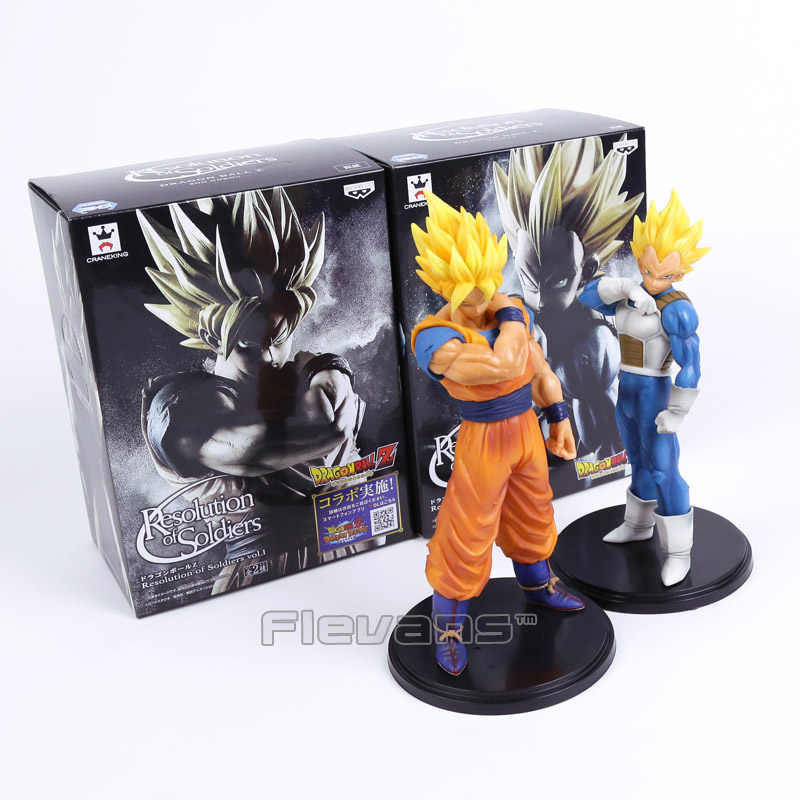 Resolução de Soldados De Dragon Ball Z vol.1 Son Goku/Vegeta vol.2 PVC Figure Toy Collectible Modelo