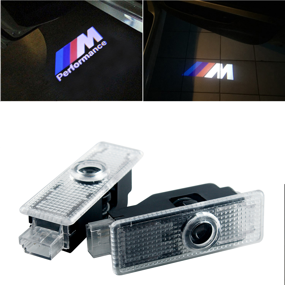 LED Car Door Courtesy Laser Projector Logo Light For Bmw M Performance E90 F10 F30 E60 E92 X1 X3 X4 X5 E61 E93 E63 F01 GT 528i