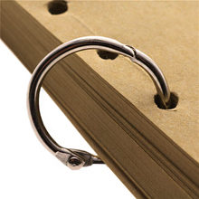 1 pcs Losse ring Sleutelhanger rvs ring Notebook losbladige ring multifunctionele stalen ring 20/ 30/25/68/82/45/55/38mm(China)