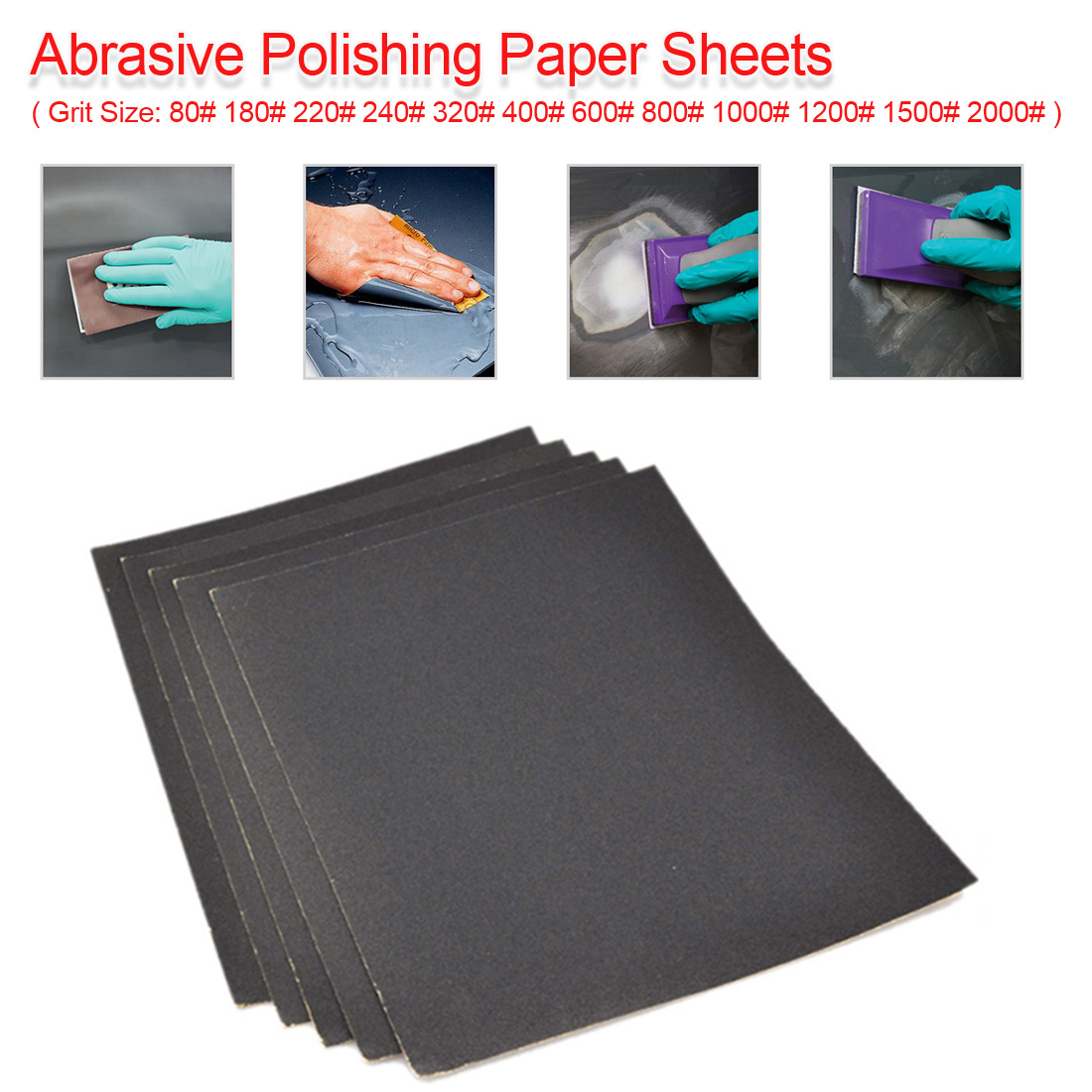 Grit 80-2000 Wet/Dry Polishing Sanding Abrasive Sandpaper Paper Sheets Surface Finishing Made For Amber/ Bodhi/ Carpentry