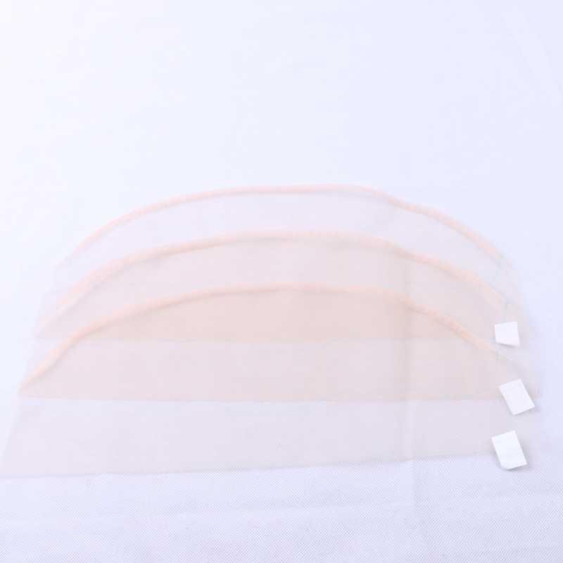 5 adet/torba 13*4 4*4 Dantel Net Şeffaf Kapatma Frontal Taban Saç Net Yapmak Için Dantel Peruk kap Kapatma Peruk Aksesuar