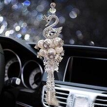 Креативная подвеска Украшение Лебедь с алмазным подвесным декором зеркало заднего вида подвеска Автомобильная подвеска аксессуары Подарки