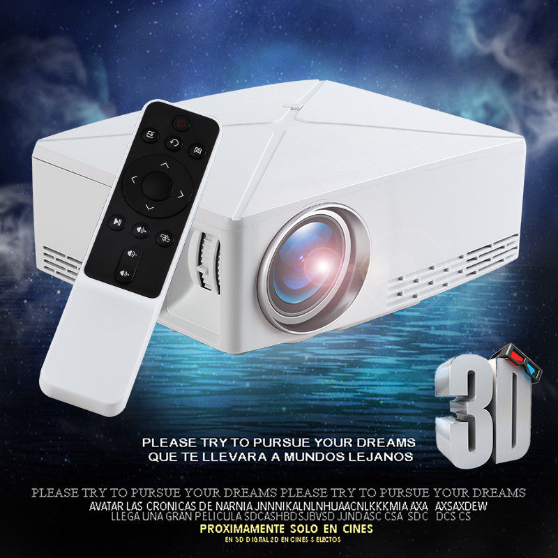 4K 1080P Portable 3D HD 1280x720P Projector Android WIFI MINI Projector For 3D Home Cinema, Optional C80 Beamer HDMI USB VGA