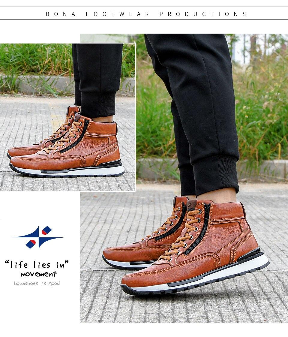 dos homens sapatos casuais alta superior botas
