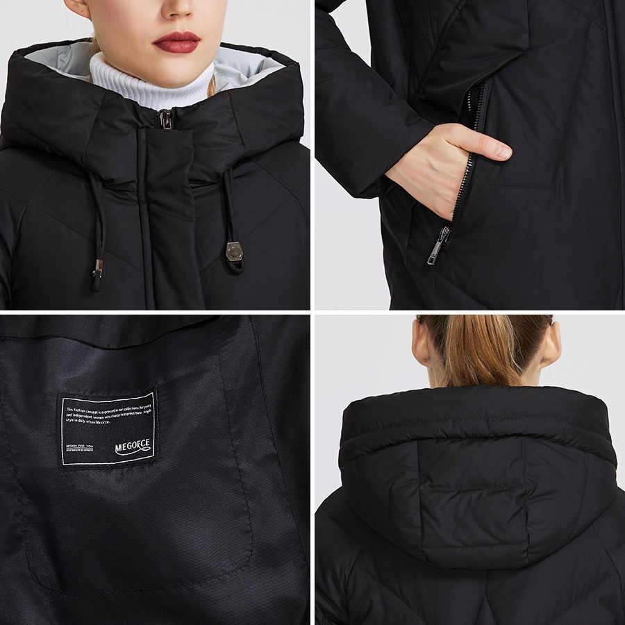 MIEGOFCE 2019 femmes hiver Parka Femme Windpro manteau avec col montant et capuche qui protégera du froid veste Femme