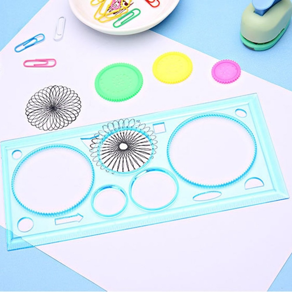 1 Pcs Multi-functional Students School Office Geometric Ruler Children Learning Kids Drawing Drafting Ruler Tools Stationery