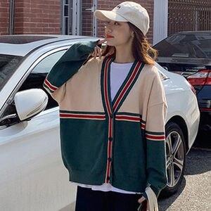 Sweater jacket women autumn 2021 Korean women's knitted cardigan women's single-breasted long-sleeved Korean loose top