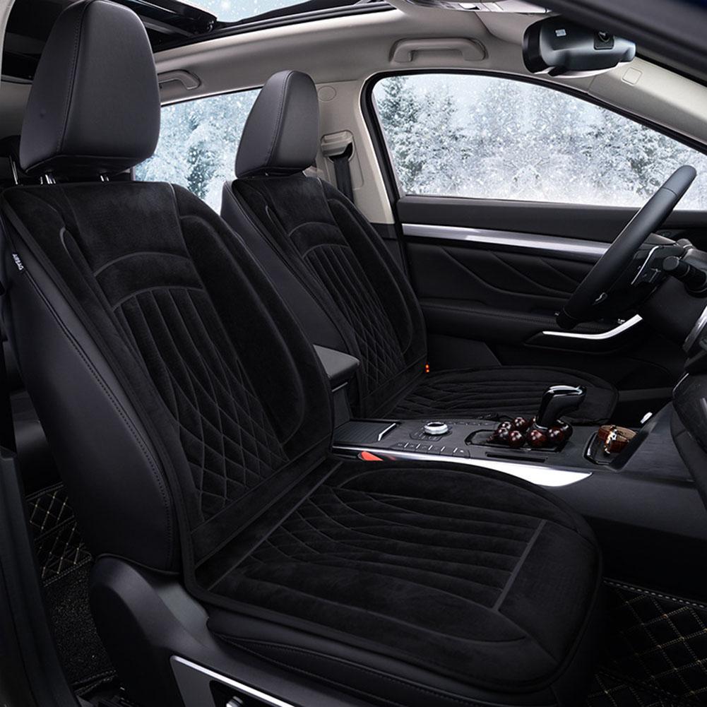 12V Car Heating Cushion Winter Keep Warm Car Electric Short Plush Warming Pad Heated Car Seat Covers For Car Office Home