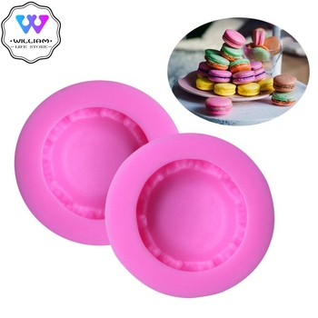 1pcs 3D Stereo Macaron Style Silicone Mold DIY Handmade Soap Candle Mold Fondant Cake Chocolate Decorating Silicone Soap Mold stereo strawberry chocolate cake mold handmade soap silicone molds