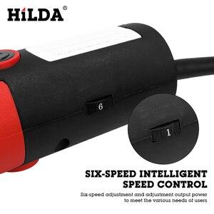 Image 4 - HILDA amoladora angular eléctrica, 1100W, herramienta eléctrica de molienda, corte de Metal