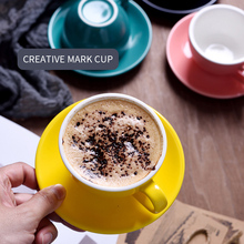 Cup-Set European-Style Saucer Cappuccino-Cups Tea-Coffee-Cup Latte Ceramic 220ML