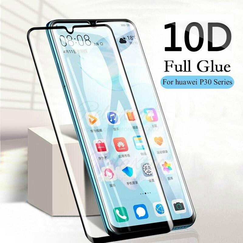 Изогнутое закаленное стекло 10D для Huawei P30 pro Lite, легкий протектор экрана для Huawei huavei p 30, p30lite, p30pro, защитное стекло