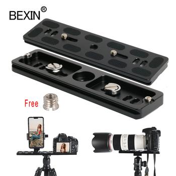 BEXIN długi statyw kamery płyta szybkiego uwalniania szybki strzał klips wspornik mocowanie kamery płyta dla lustrzanka cyfrowa statyw kamery ze śrubą 1 4 tanie i dobre opinie CN (pochodzenie) PU50 60 70 100 120 150 200A aluminum 50 60 70 100 120 150 200*38 5mm 1 4 inch d ring screw CNC machining