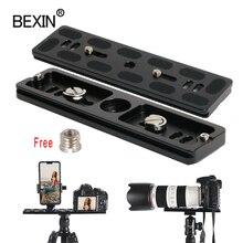 BEXIN طويل كاميرا ترايبود الإفراج السريع لوحة سريعة النار كليب قوس منصب الكاميرا لوحة ل dslr كاميرا ترايبود مع 1/4 المسمار