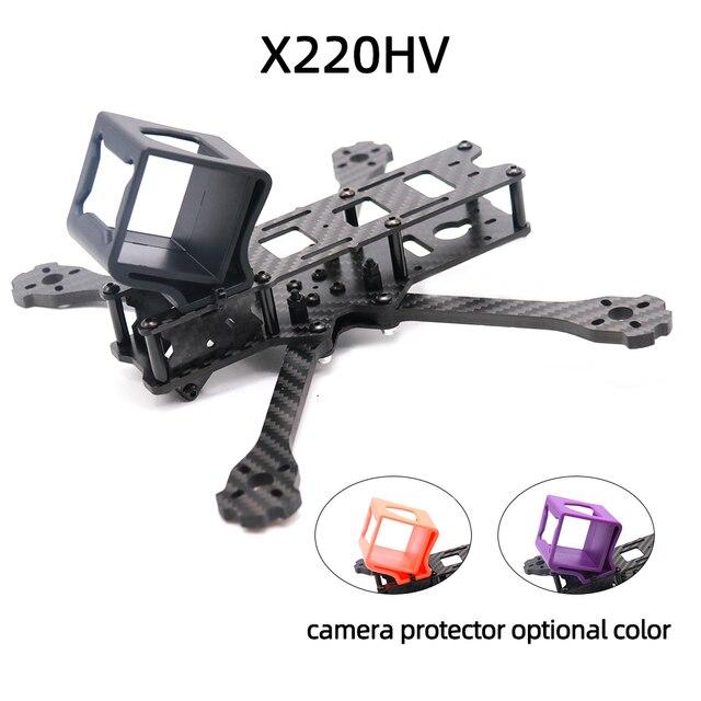 Cadre de Drone FPV TCMM 5 pouces X220HV, base de roue 220mm en Fiber de carbone pour course de Drone FPV